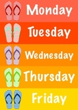 Days of the week Summer theme