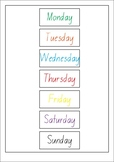 Days of the week (Velcro)