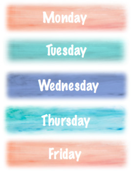 Days of the week-Watercolor