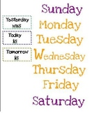 Days of the week-What's Today, Tomorrow, Yesterday?
