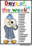 Days of the week activities in WORLD languages