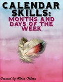 Days of the week and Months of the Year Calendar Skills