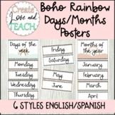 Days of the week and Months of the year English Spanish