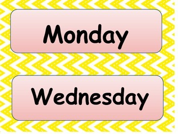 Days of the week banners