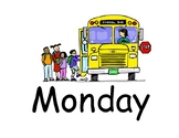 Days of the week board (size 8x11.5 PDF)