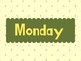 Days of the week flashcards - English
