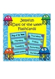 Days of the week flashcards (Jellyfish/ocean theme)