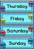 Days of the week flashcards (Jellyfish/ocean theme)