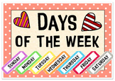 Days of the week - flashcards, letters, worksheets, a game