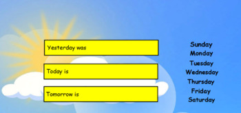 Days of the week flipchart (ActiveInspire)