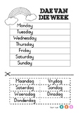 Days of the week in Afrikaans