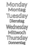 Days of the week in German