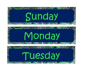 Days of the week in Peacock
