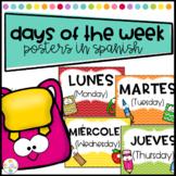 Days of the week in posters in Spanish - Dias de la Semana