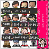 Days of the week clip art - Kidlettes - COMBO PACK- by Melonheadz