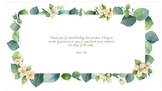 Days of the week labels (greenery, eucalyptus, floral, bla