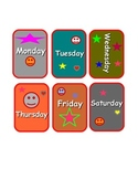 Days of the week matching cards game  English/Spanish