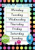 Days of the week & months of the year - Vic Modern Cursive font on dotted thirds