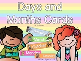 Days of the week/months of the year cards