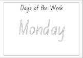 Days of the week (outline)