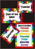 Days of the Week - poster / chart / flashcards - Classroom decor