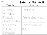 Days of the week practice
