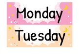 Days of the week label printables