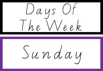 Days of the week rainbow