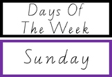 Days of the week rainbow