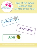 Days of the week, seasons and months of the year