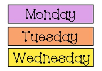 Days of the week signage