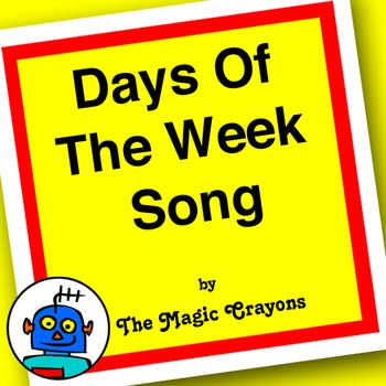English Days Of The Week Song for ESL, EFL, Kindergarten. Sunday, Monday