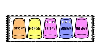 Days of the week speed cups PPT