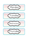 Days of the week tray labels