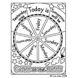 FREE Days of the week wheel