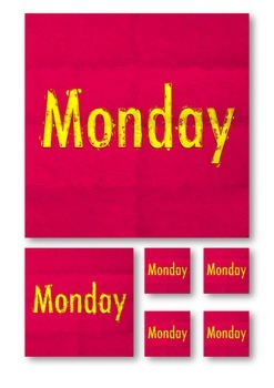 Days of the week with a modern arty twist for displays or activities