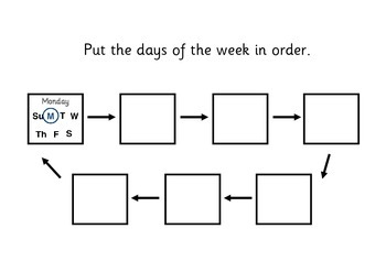 Days of the week workbook & resources