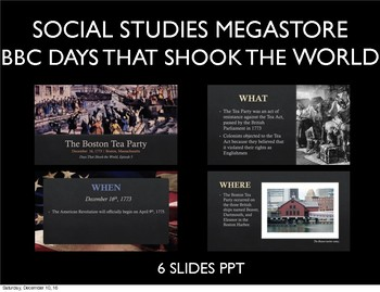 Days that Shook the World BBC: Boston Tea Party Season 3 Ep. 5