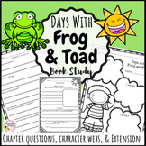 Days with Frog and Toad Book Study - Printable & Digital