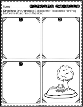 """Days with Frog and Toad - Activities for """"Alone"""""""