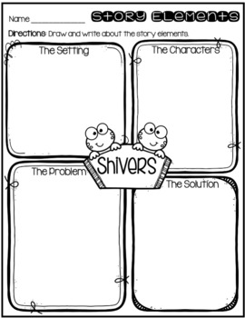 """Days with Frog and Toad - Activities for """"Shivers"""""""
