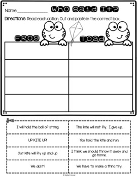 Days with Frog and Toad - Activities for The Kite""