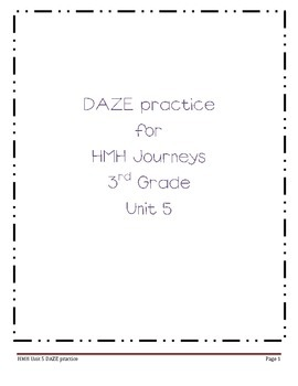 Daze practice for HMH Grade 3 Unit 5