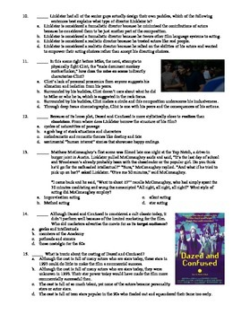 Dazed and Confused Film (1993) 15-Question Multiple Choice Quiz
