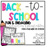 Back to School Activities | Primary | Full Week of Activities! | Emojis