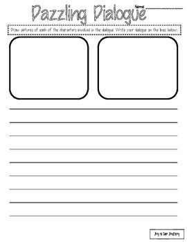 """Dazzling Dialogue"" Imaginative Writing Task Cards"
