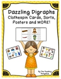 Dazzling Digraphs - Clothespin Cards, Sorts, Posters and More {CH, SH, TH, WH}