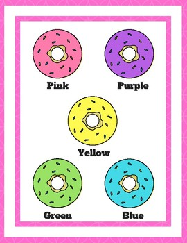 Dazzling Donuts: Color Matching File Folder Games