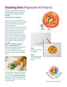 Dazzling Dots Fingerprint Art Project