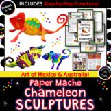 Dazzling Paper Mache Chameleon Sculptures- Art of Mexico